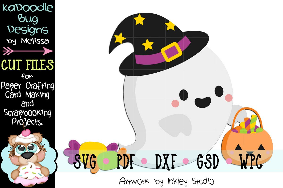 Trick Or Treat Ghost Cut File - SVG PDF DXF GSD WPC example image 1