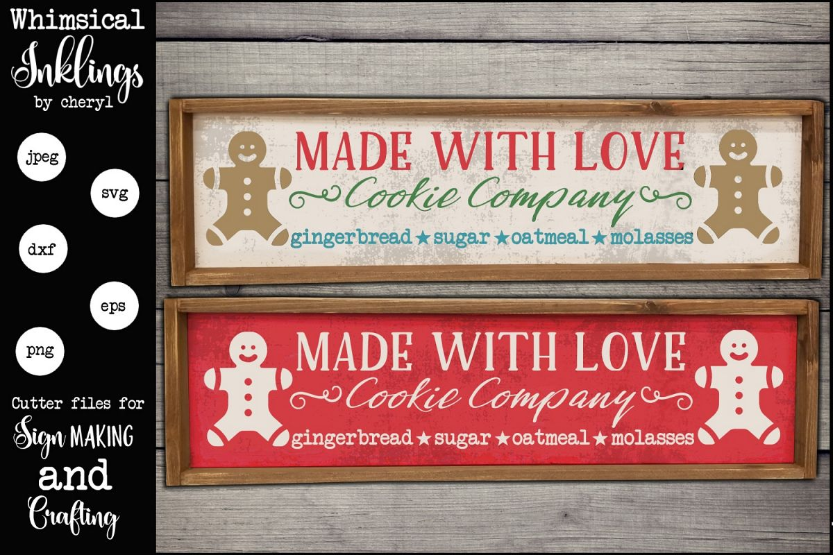 Made With Love Cookie Company SVG example image 1