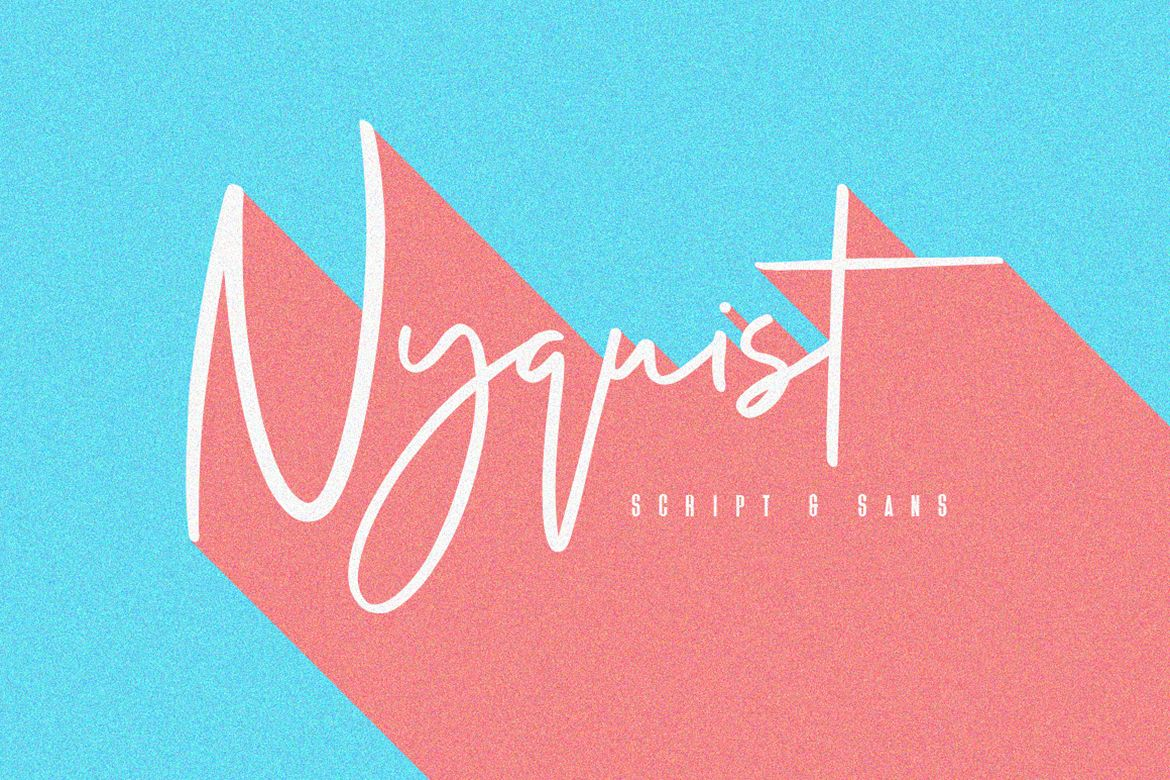 Nyquist Script - Free Sans example image 1