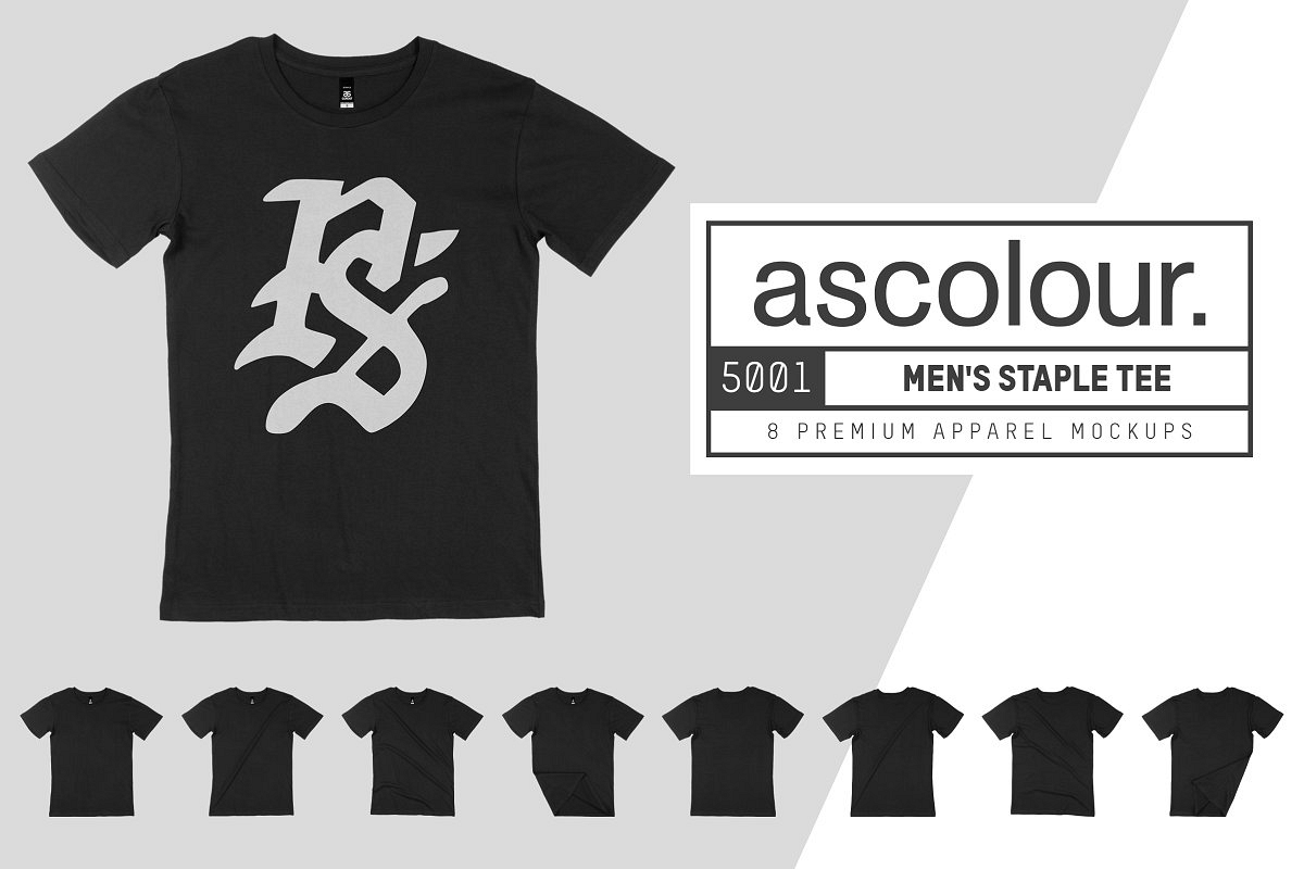 AS Colour 5001 Staple Tee Mockups example image 1