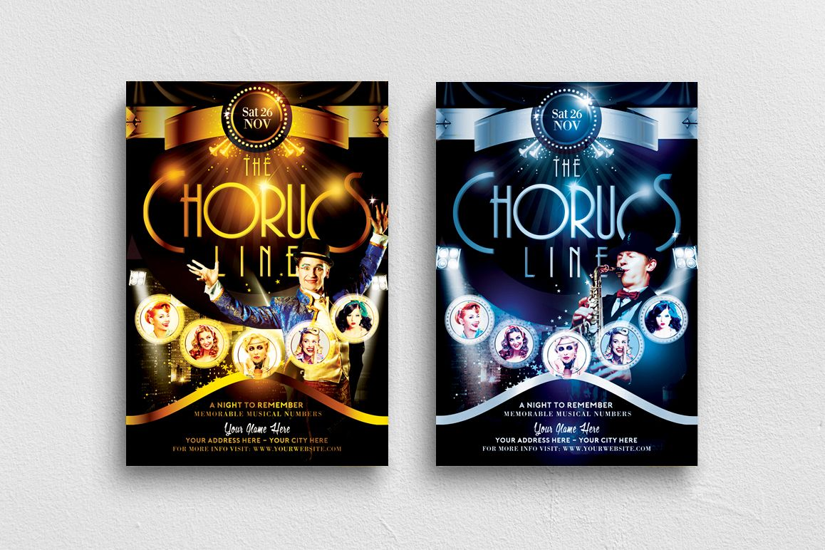 The Chorus Line Flyer Template example image 1