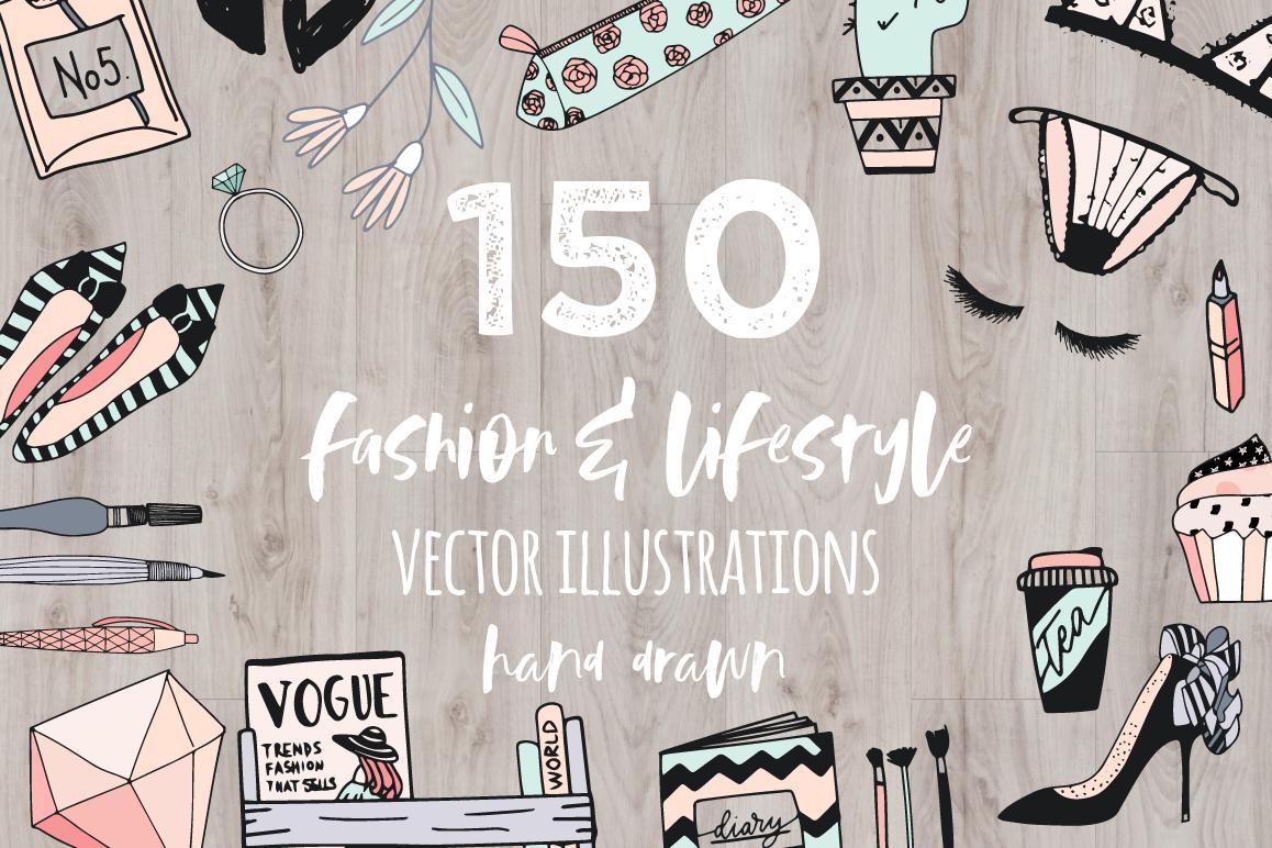 Fashion/Lifestyle illustration pack example image 1