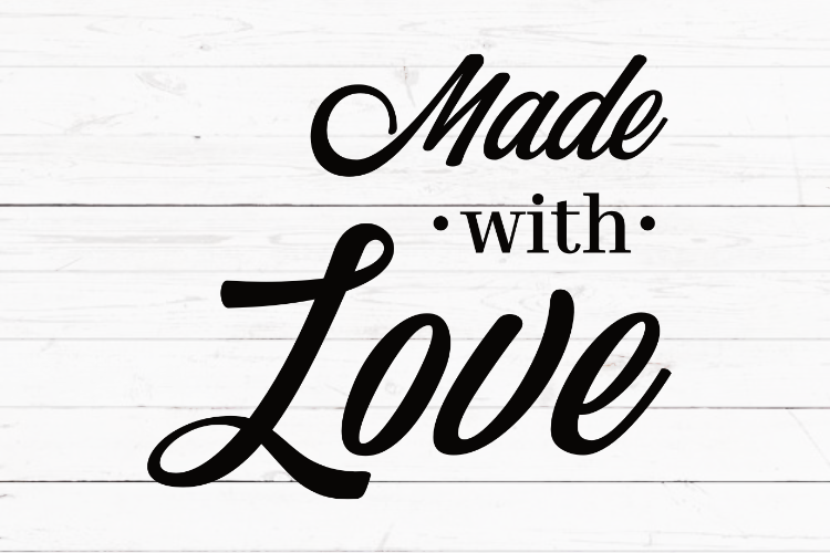 SVG PNG EPS Made with love svg, circut file, cutting file, silhouette svg, farmhouse decor, home sign svg, for T-shirts, for transfer example image 1