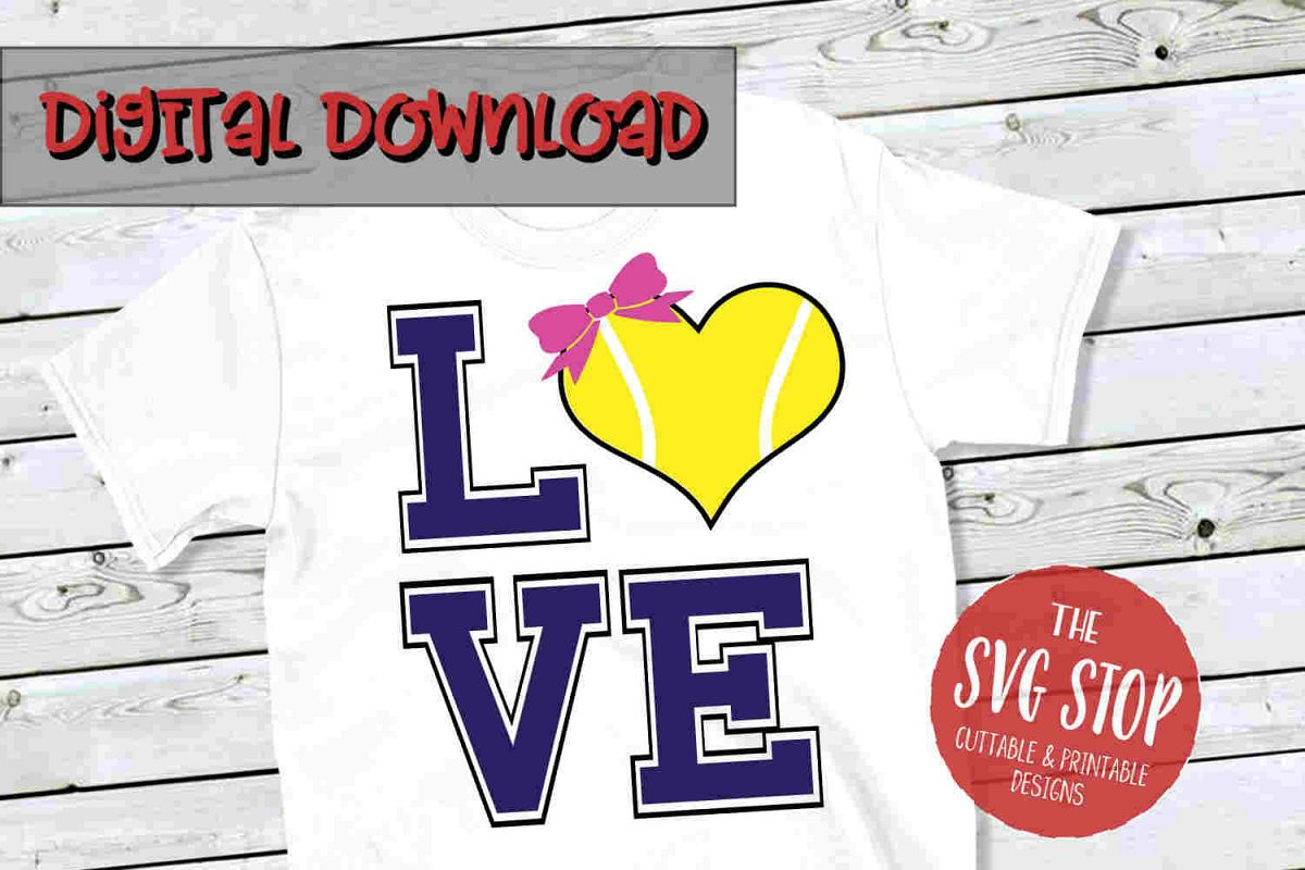 Love Tennis 4-SVG, PNG, DXF example image 1