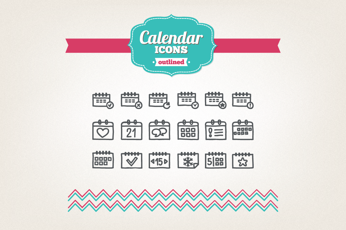 Hand Drawn Calendar Icons example image 1