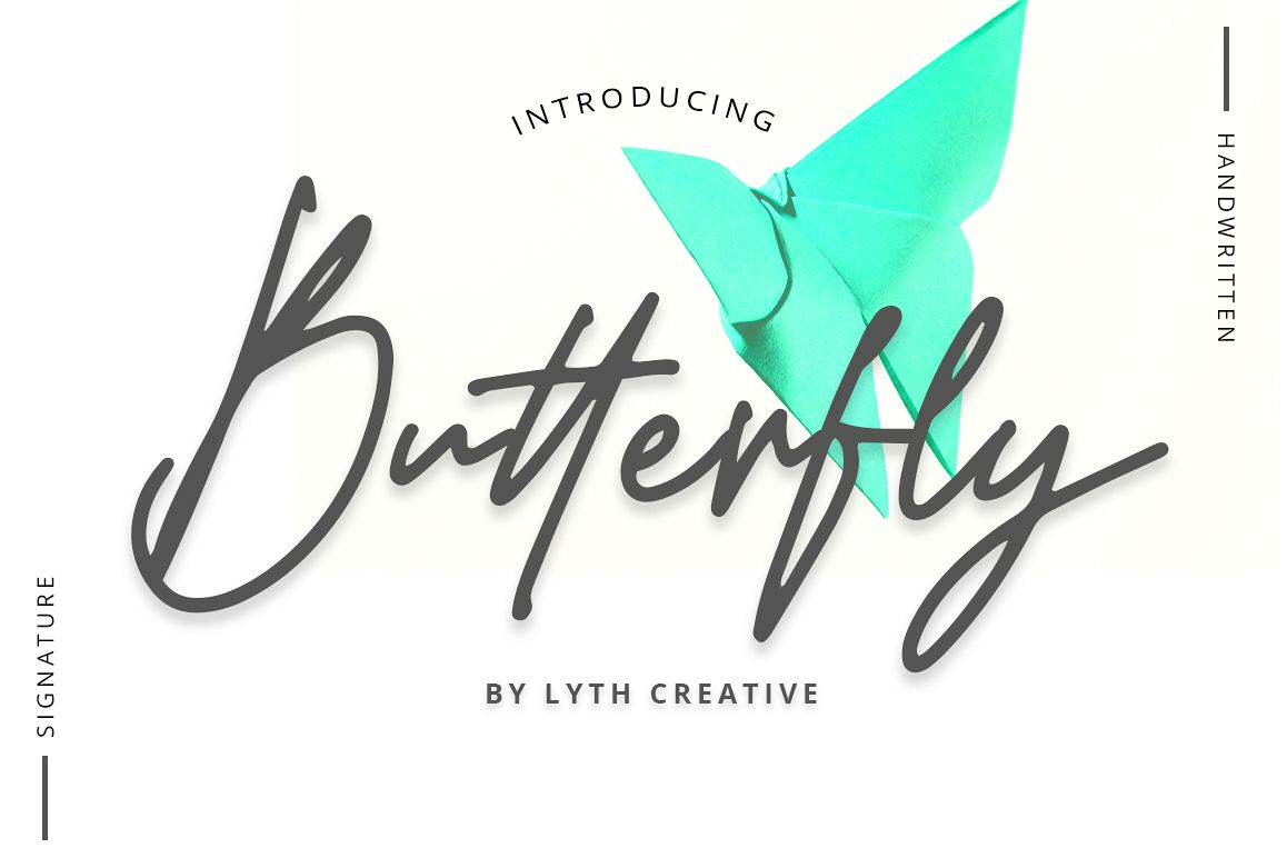 Butterfly Font example image 1