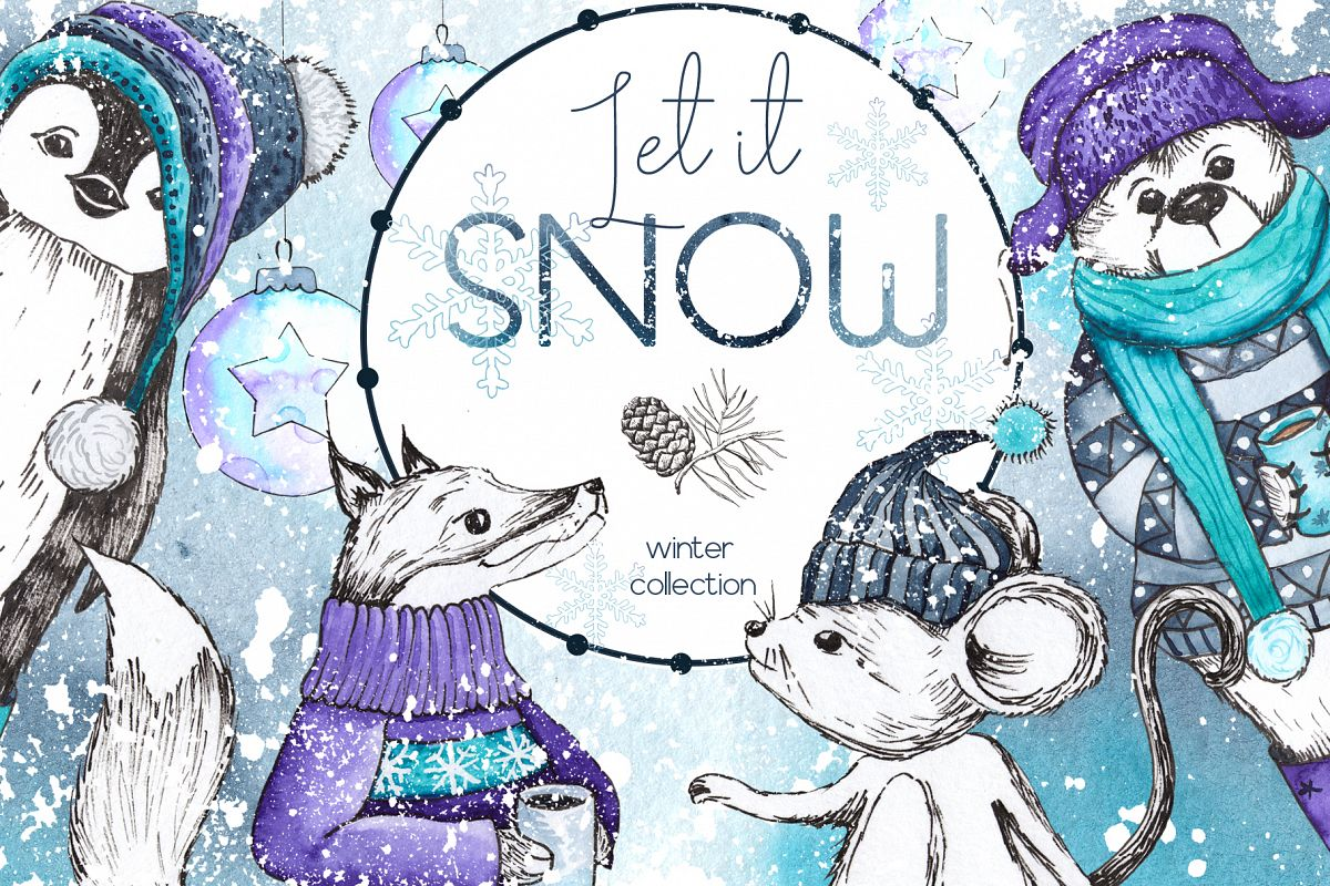 Let it snow. Winter collection example image 1