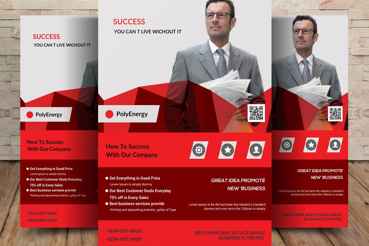 business flyer template example image