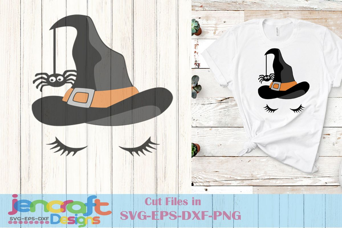 Witch Svg - Halloween Face Svg File image down example image 1