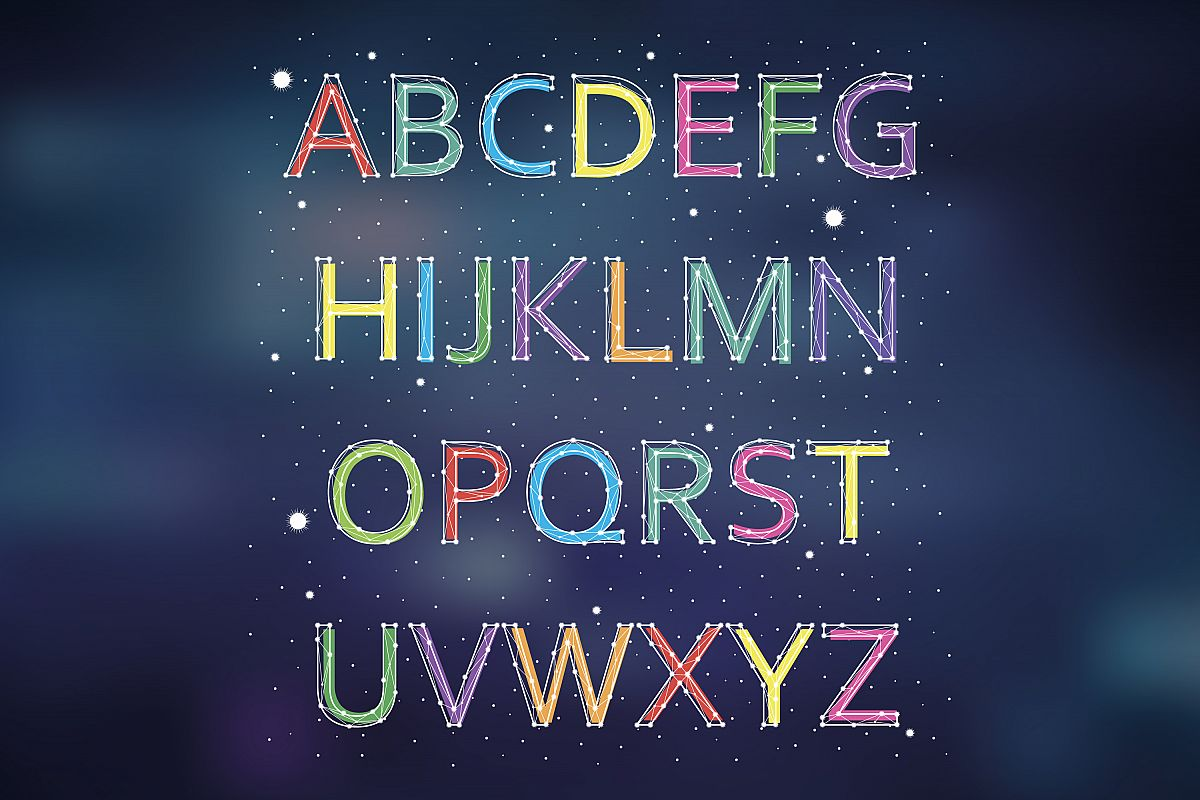 Font constellation example image 1
