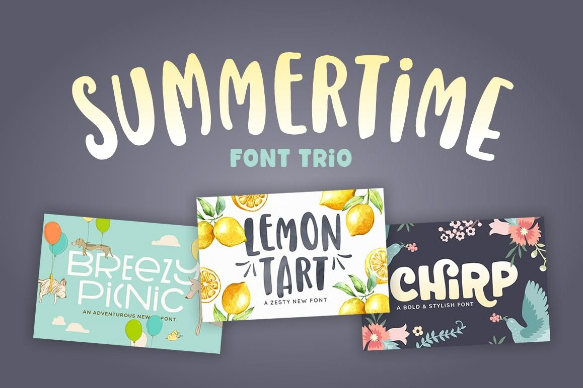 Summertime Font Trio example image 1
