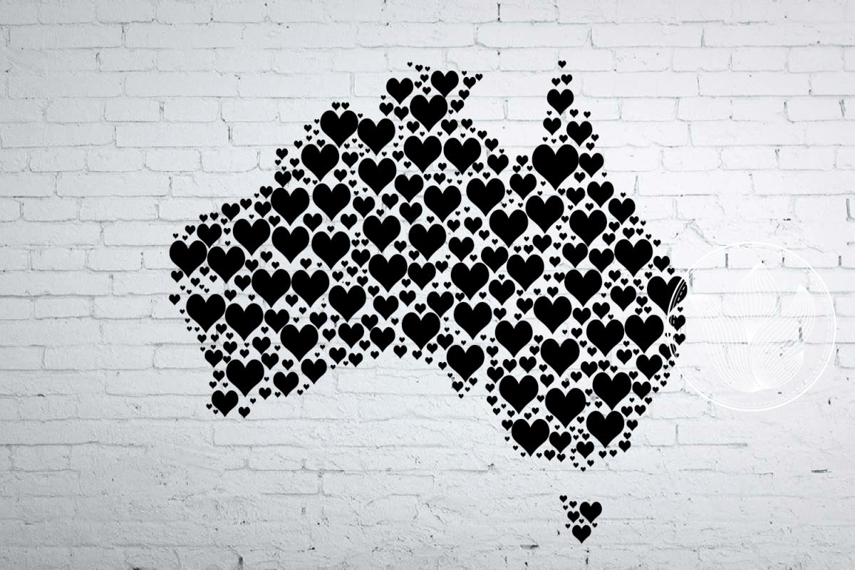 Australia Map Png.Australia Heart Map Jpg Png Eps Pdf