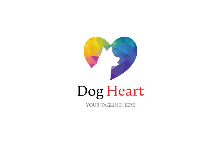 Dog in Heart Logo example image 1