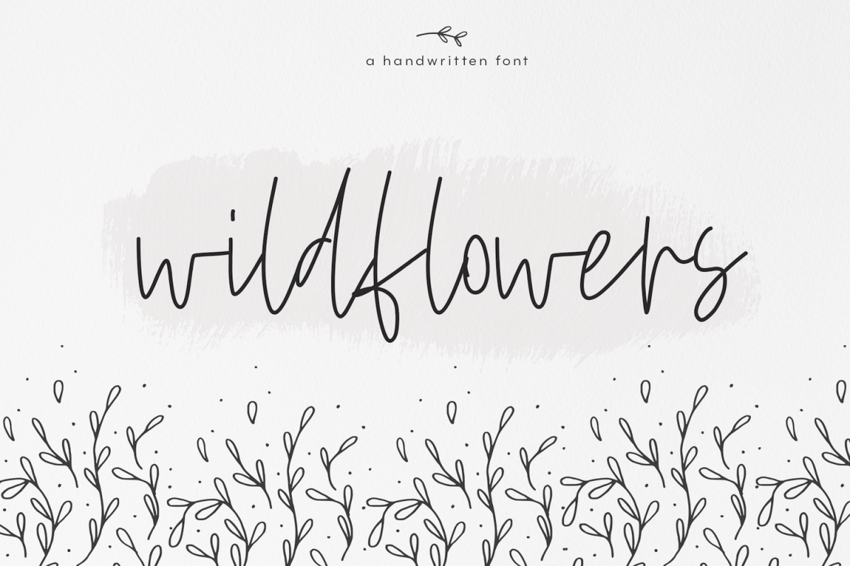 Wildflowers - A Handwritten Script Font example image 1