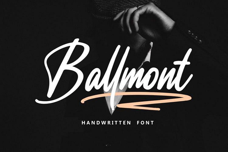 Ballmont - Handwritten Script Font example image 1