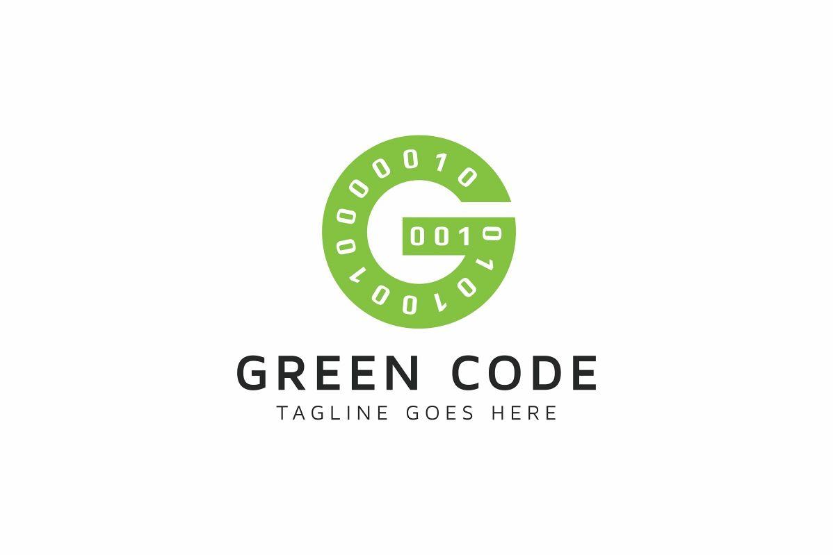 Green Code G Letter Logo example image 1