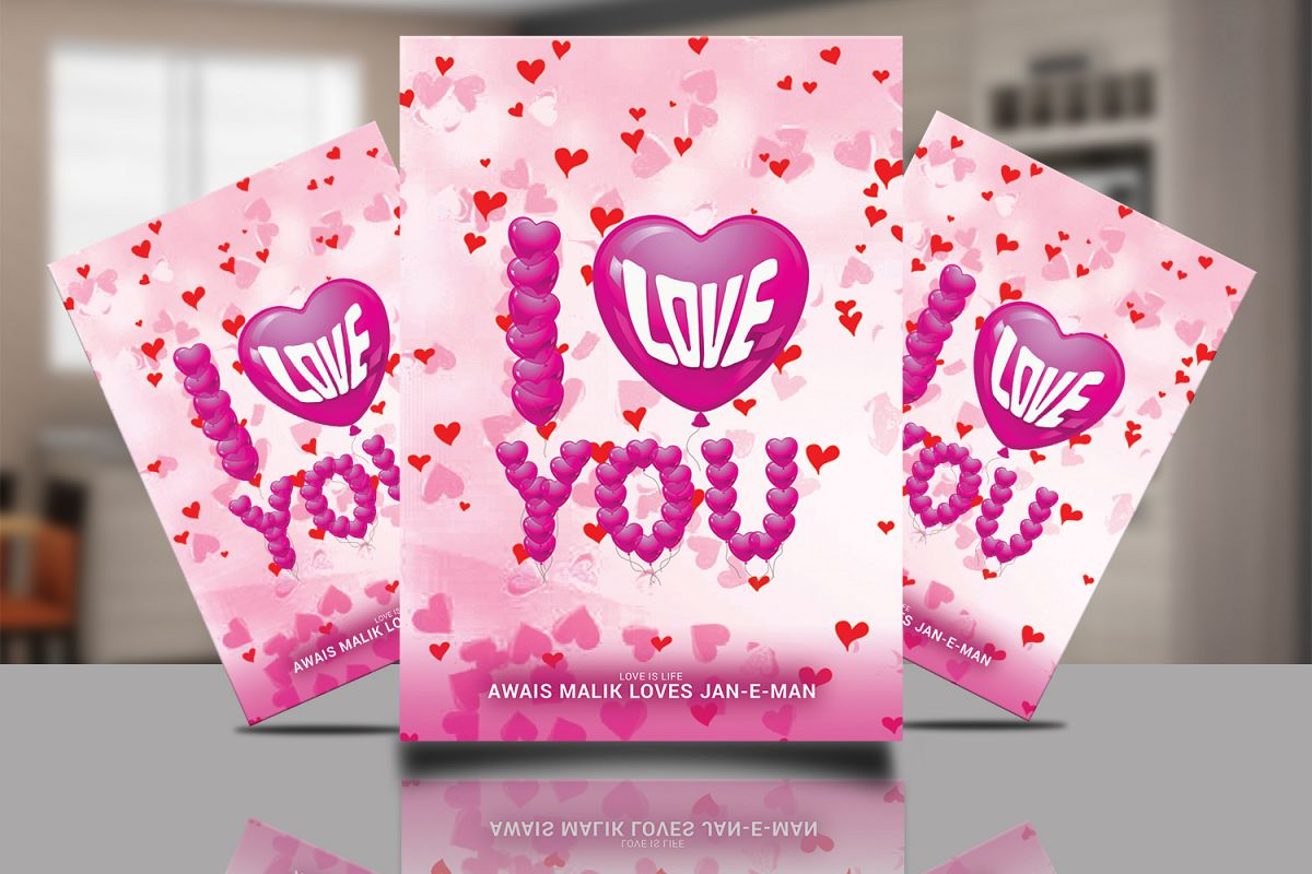 I LOVE YOU FLYER example image 1
