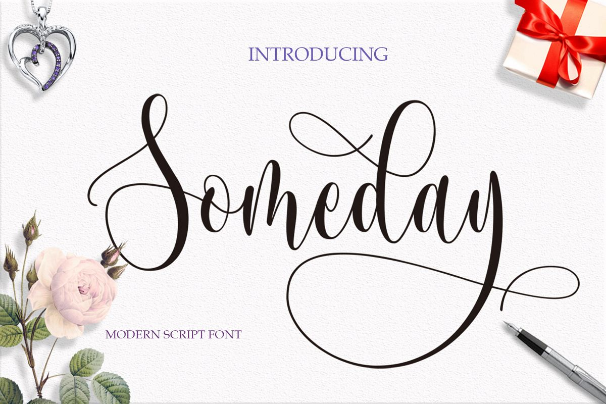 Someday Script Font example image 1