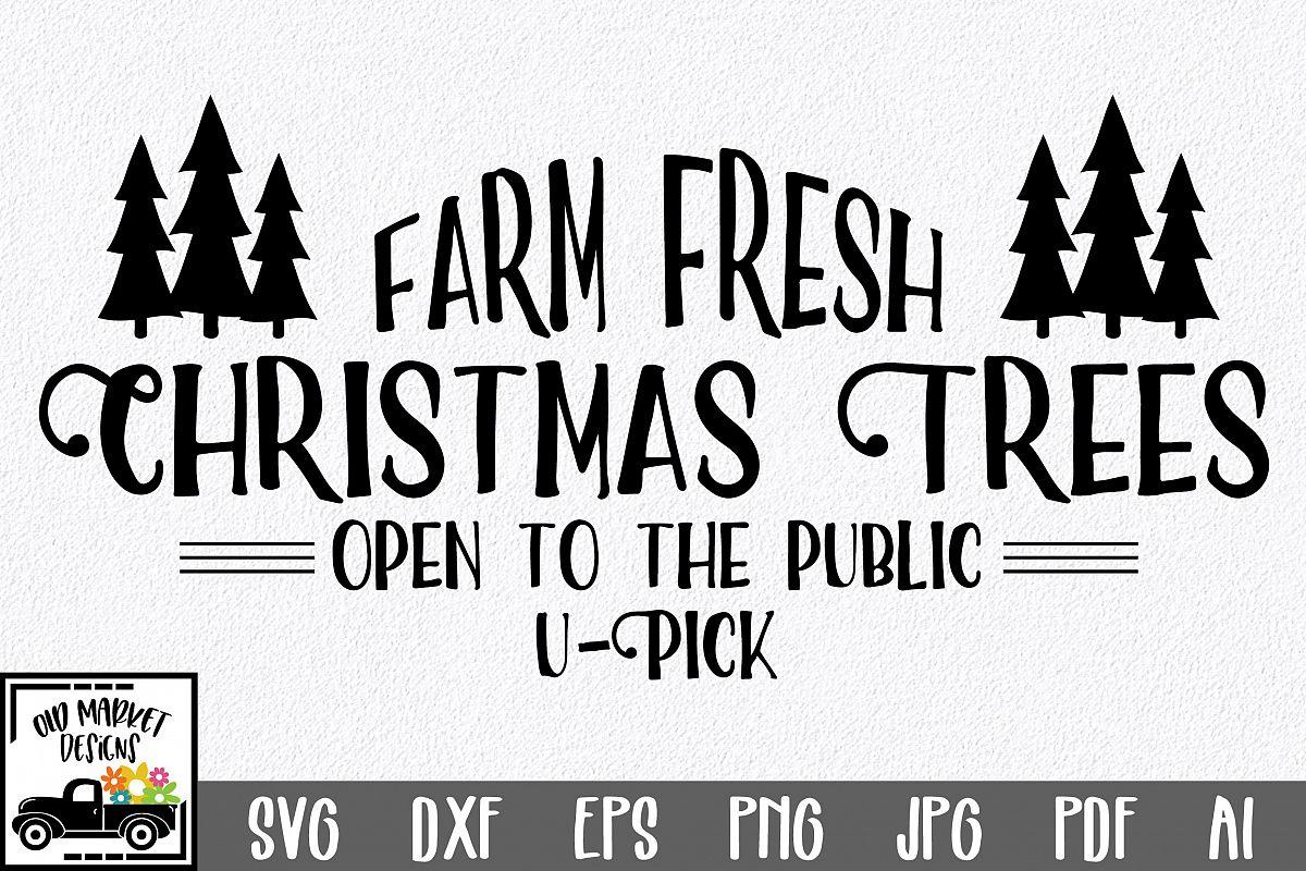Christmas SVG Cut File - Christmas Trees SVG DXF PNG EPS JPG