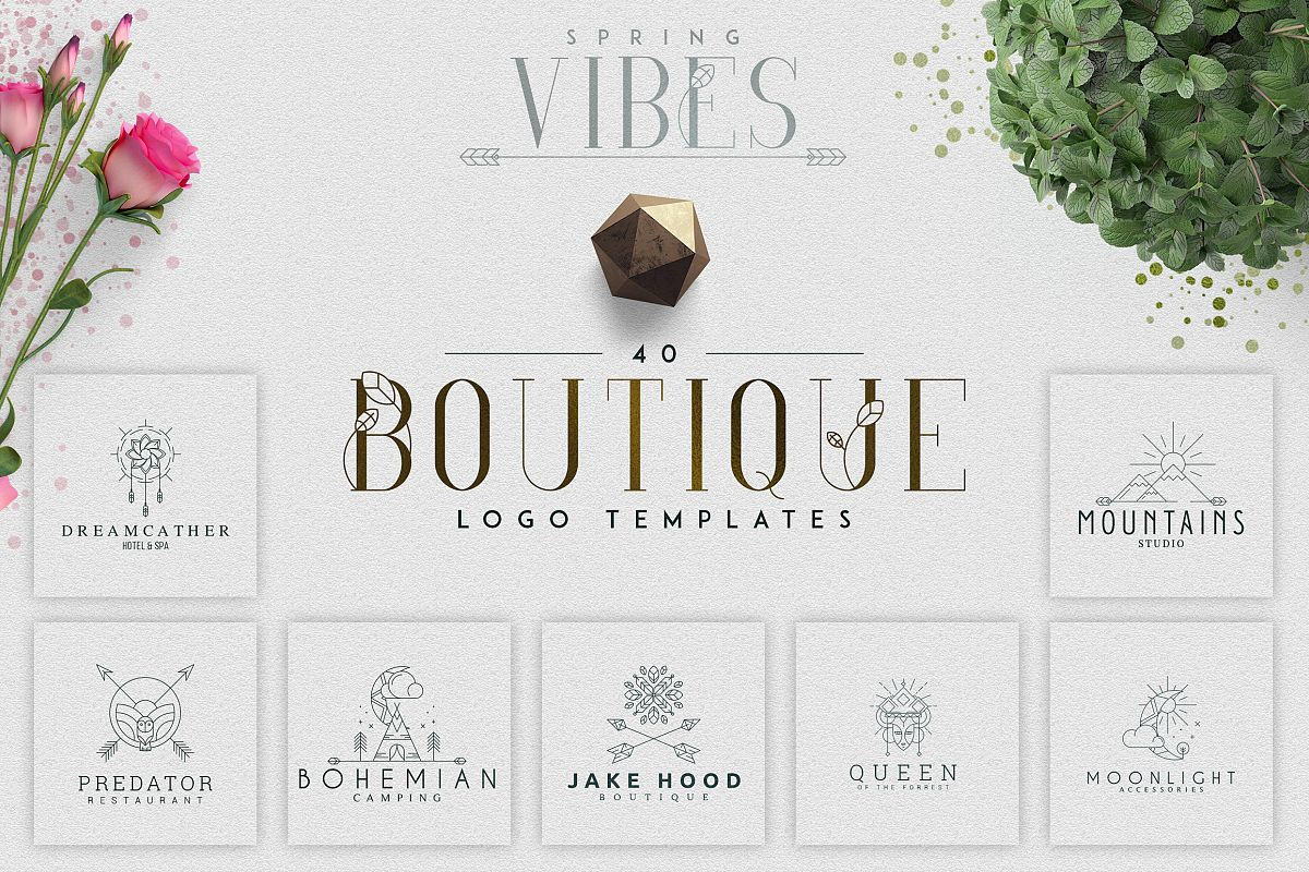 [Spring Vibes] 40 Boutique Logos example image 1