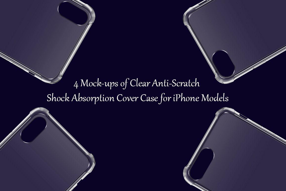 Apple iPhone 8,8plus,X,Xs Max Anti-Scratch Case Mock-ups example image 1