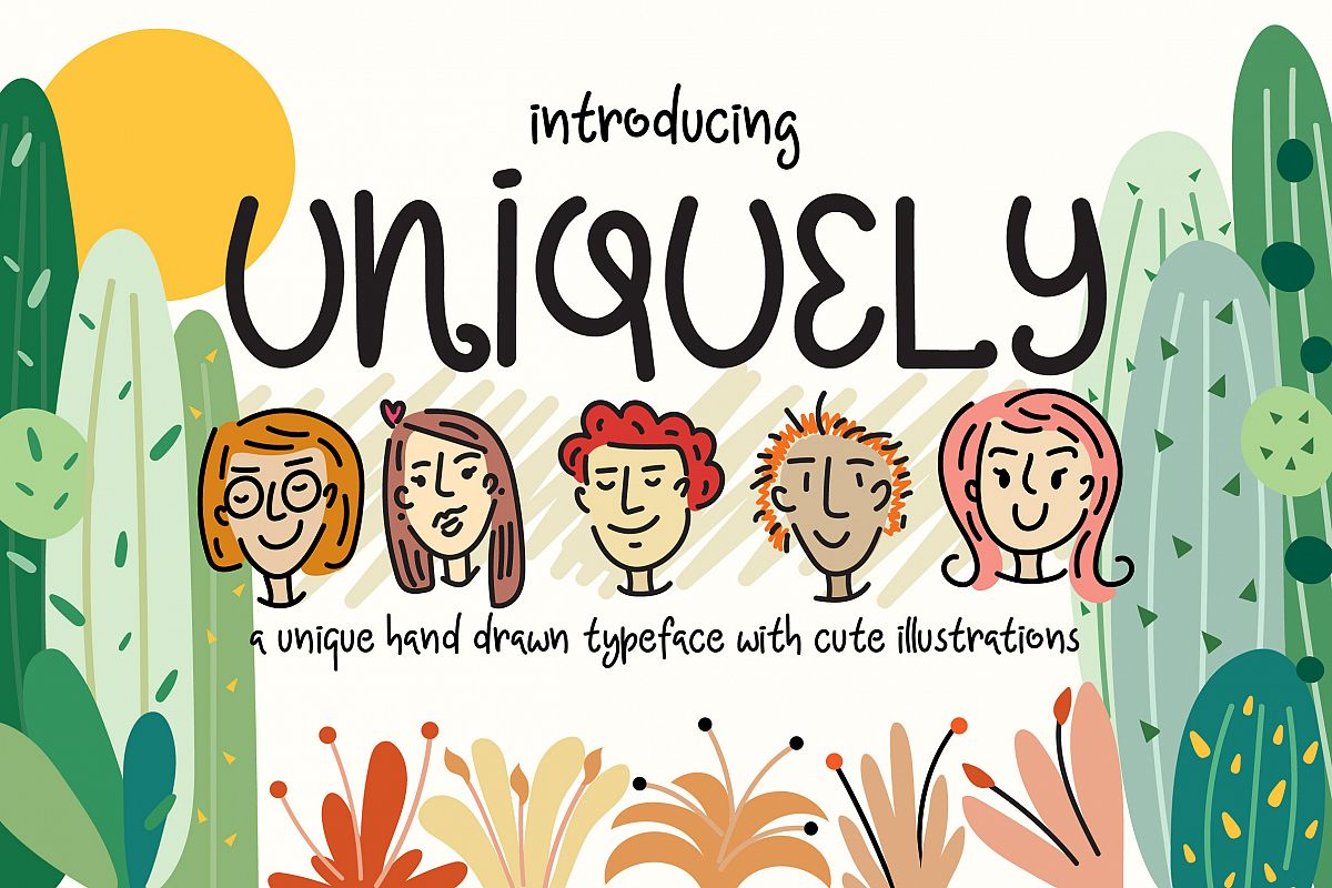 Uniquely Font example image 1