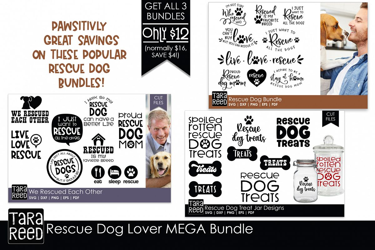 Rescue Dog MEGA Bundle - Rescue Dog SVG Files for Crafters example image 1