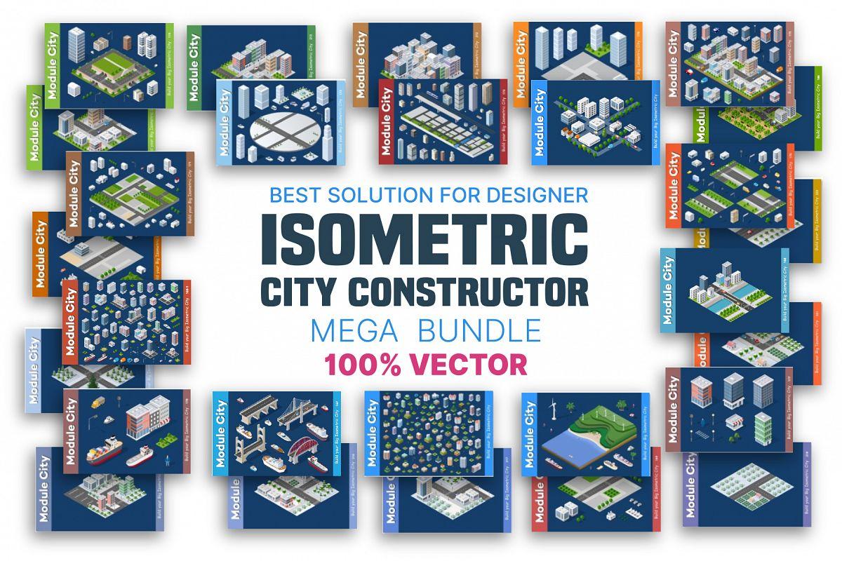 Isometric set module city example image 1