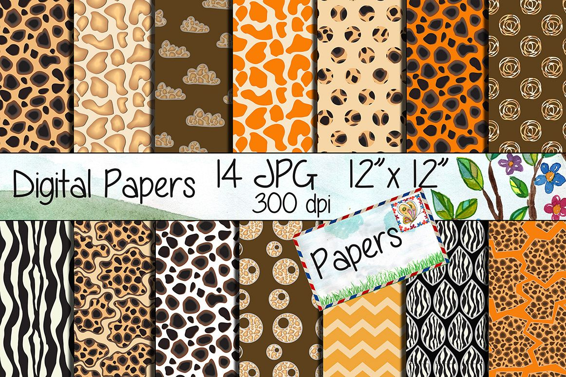 Safari Kraft Digital Paper example image 1