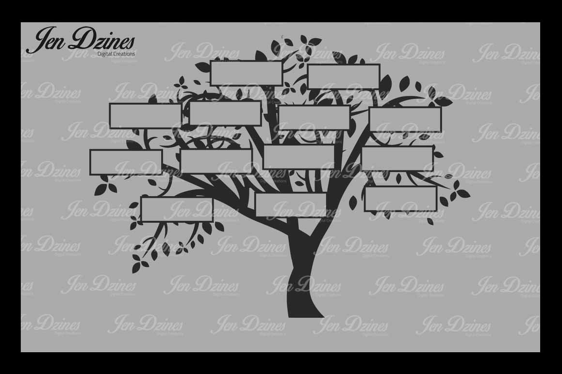 Family Tree 13 Names Svg Dxf Eps Png 3049 Svgs Design Bundles