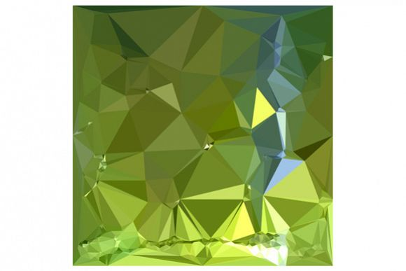 Chartreuse Green Abstract Low Polygon Background example image 1