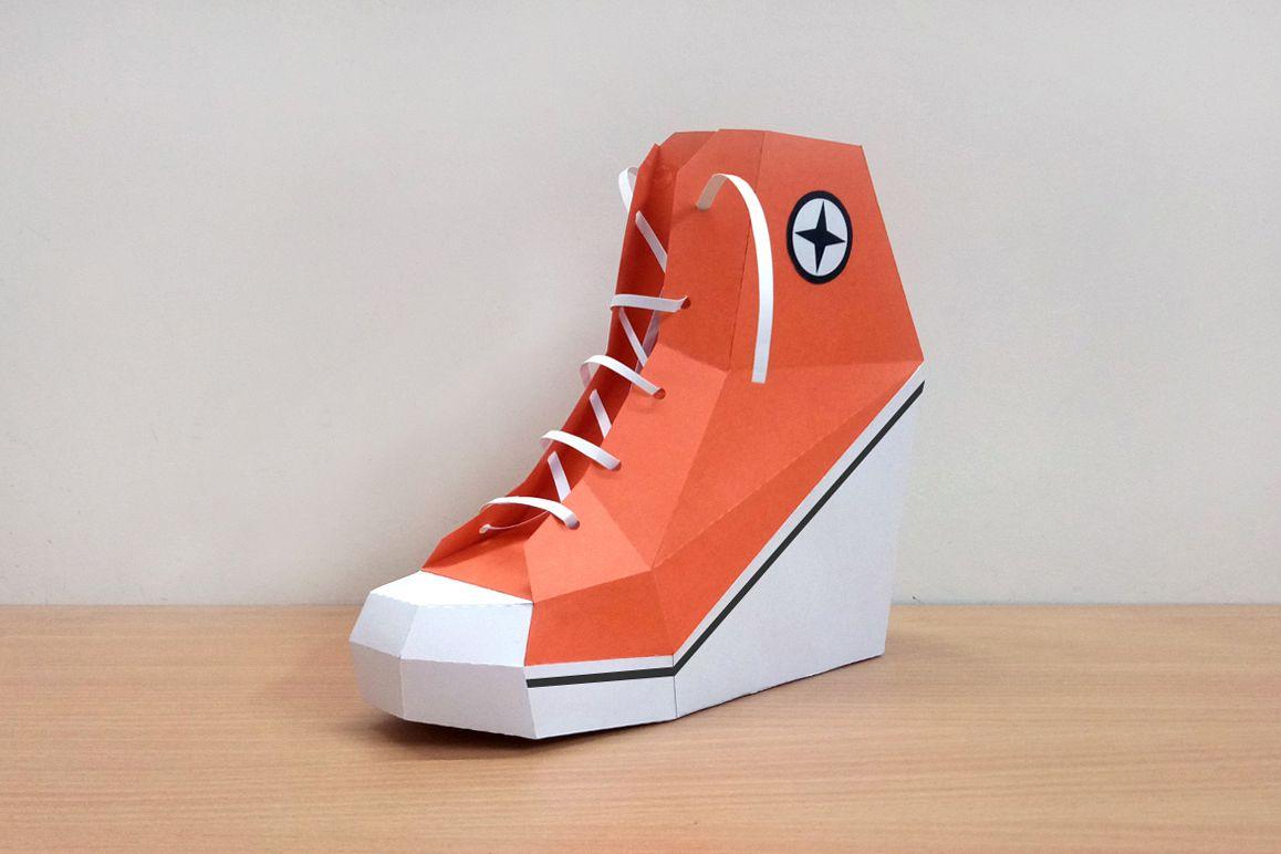 5b5a03f3c45d DIY Converse Shoe - 3d papercraft