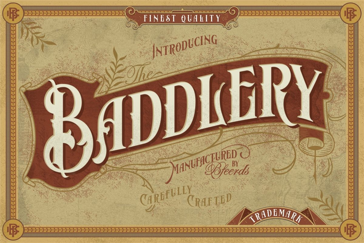 Baddlery Vintage Typeface example image 1