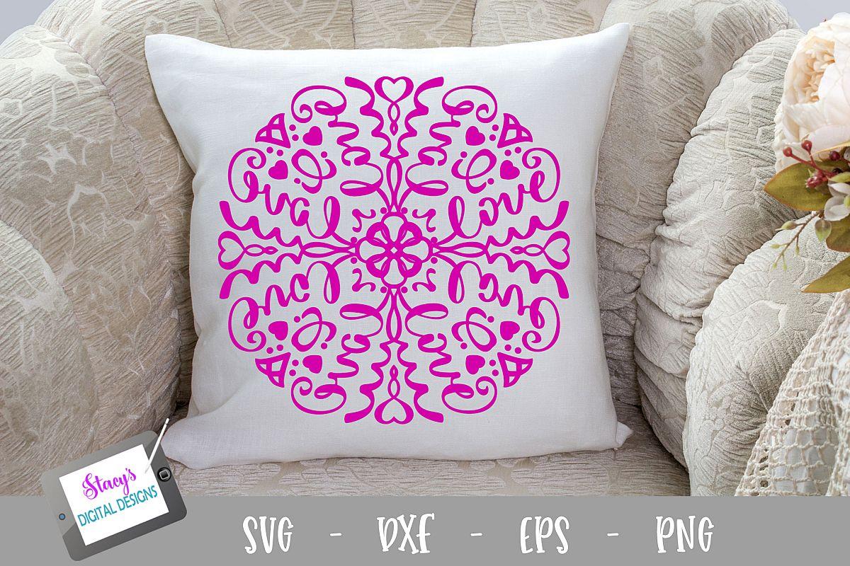 Mandala SVG - Love mandala svg example image 1