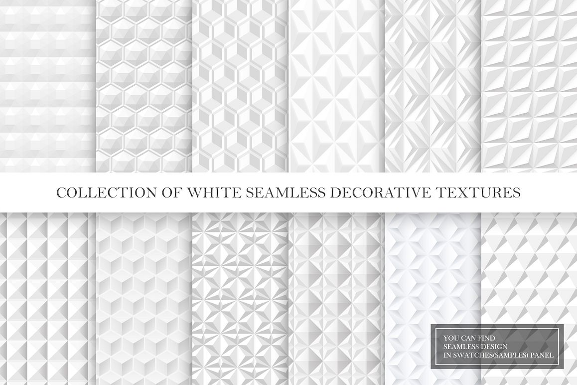 White and grey seamless 3d textures example image 1