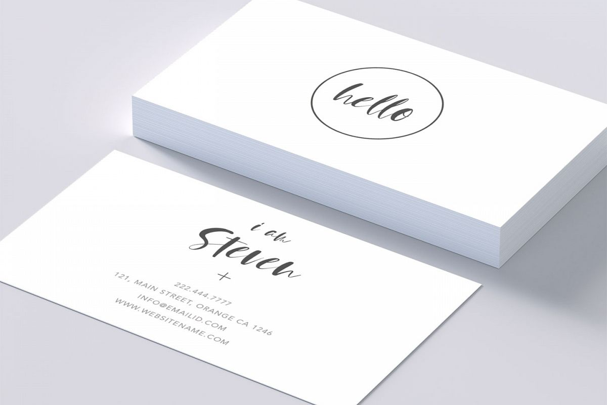Minimal Beautiful Smart Business Card
