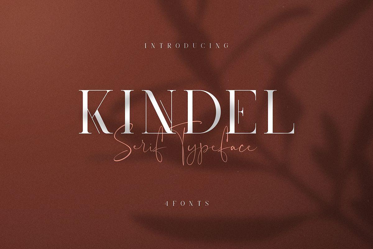 Kindel - Serif Typeface | 4 styles example image 1