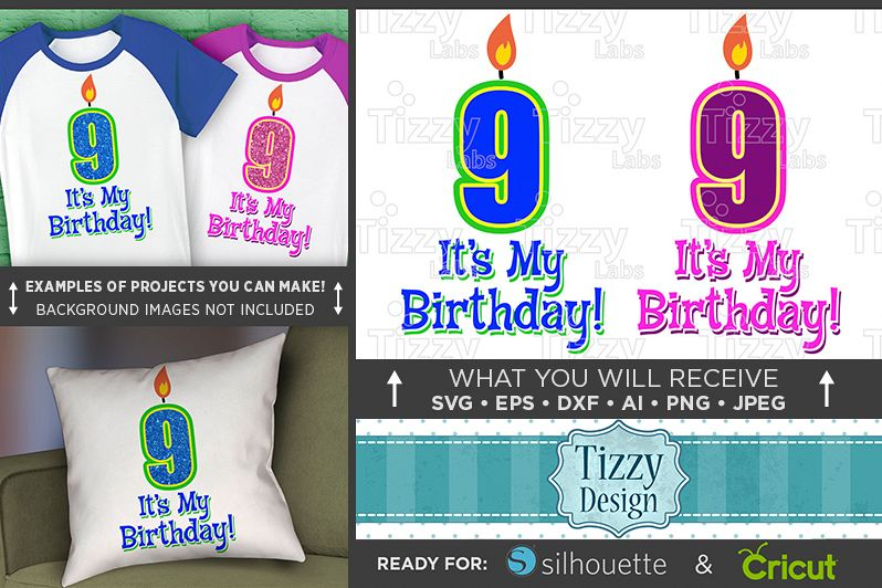 9th Birthday Svg - Its My Birthday SVG Birthday Shirt - 1036 example image 1