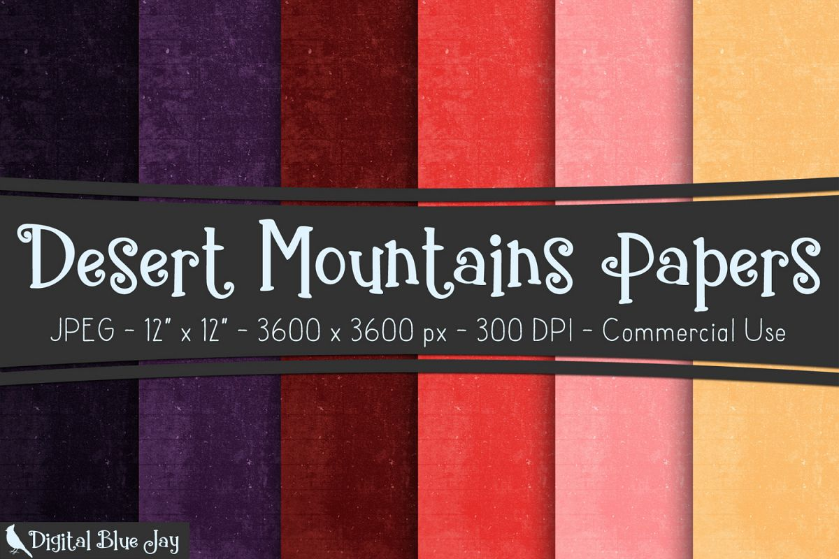Digital Paper Textured Backgrounds - Desert Mountains example image 1
