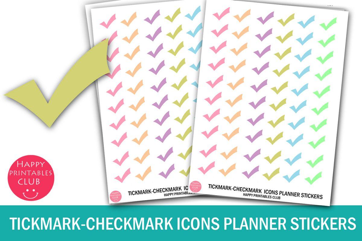 Tickmark-Checkmark Icons Planner Stickers-Tickmark Pastel example image 1