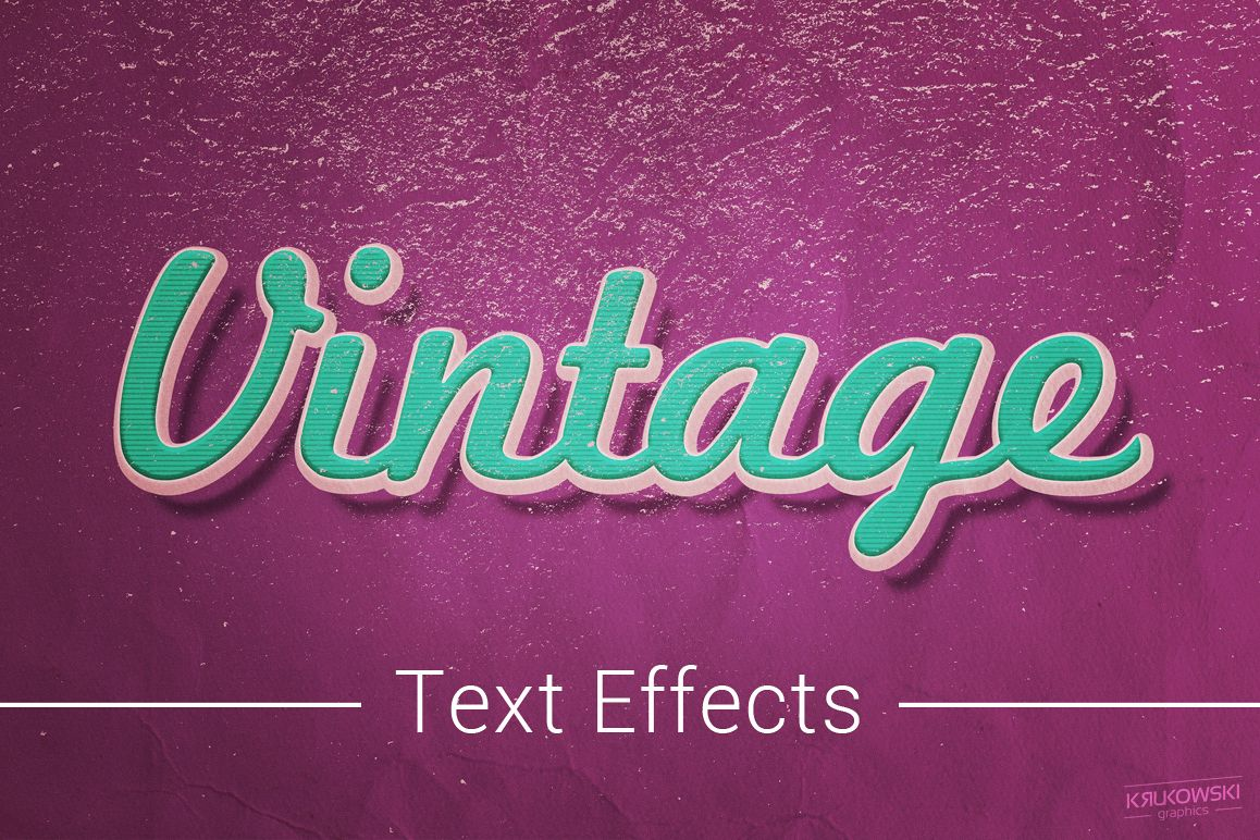 Vintage Old Text Effects Mockup example image 1