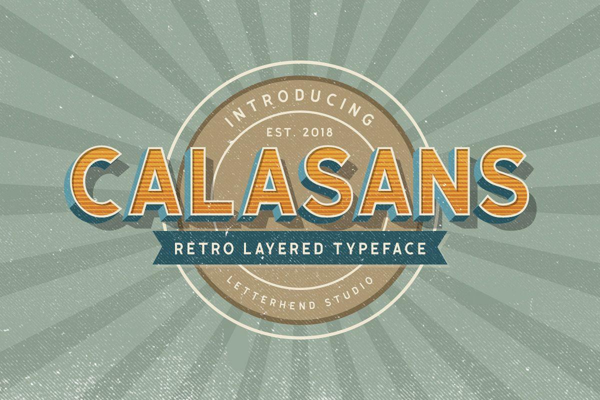 Calasans 7 Layered Font example image 1