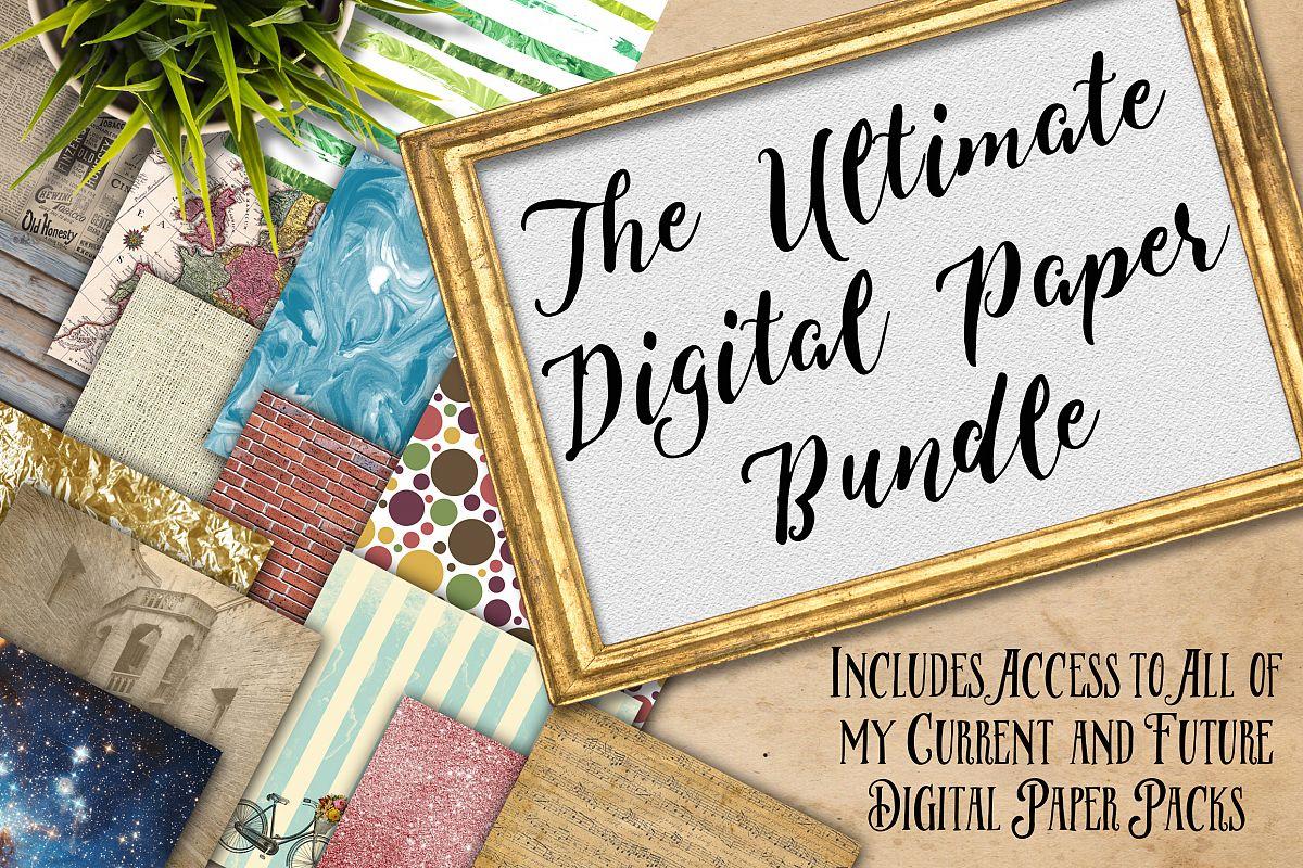 Digital Textures Scrapbook Paper Bundle - Over 250 Sets! example image 1