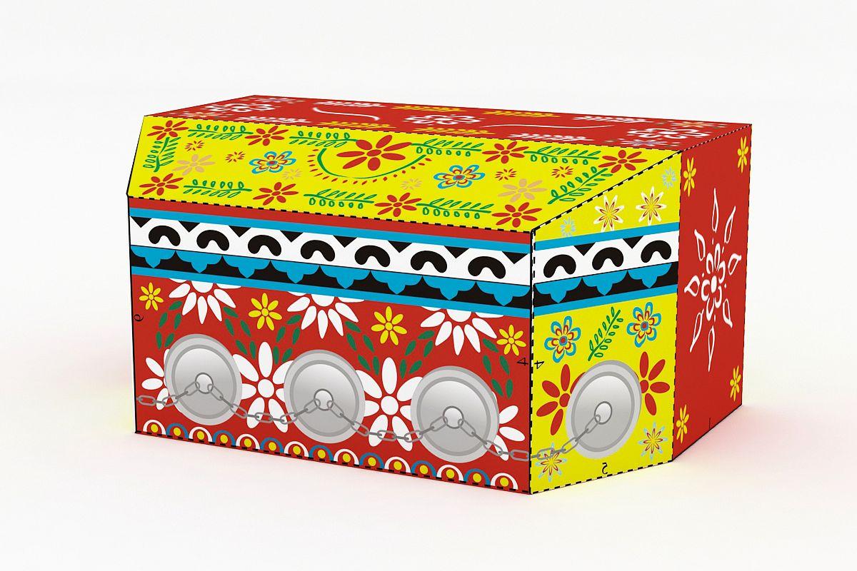 DIY Bioscope favor - 3d papercraft example image 1