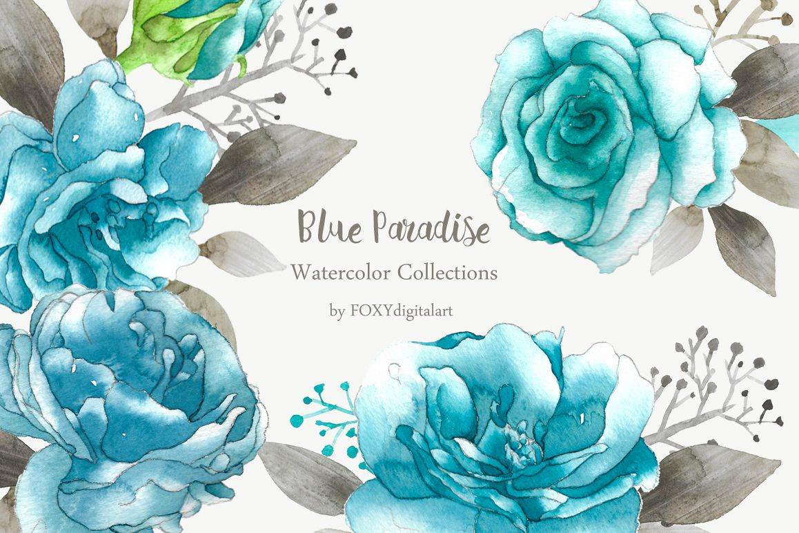 blue rose clipart example image 1