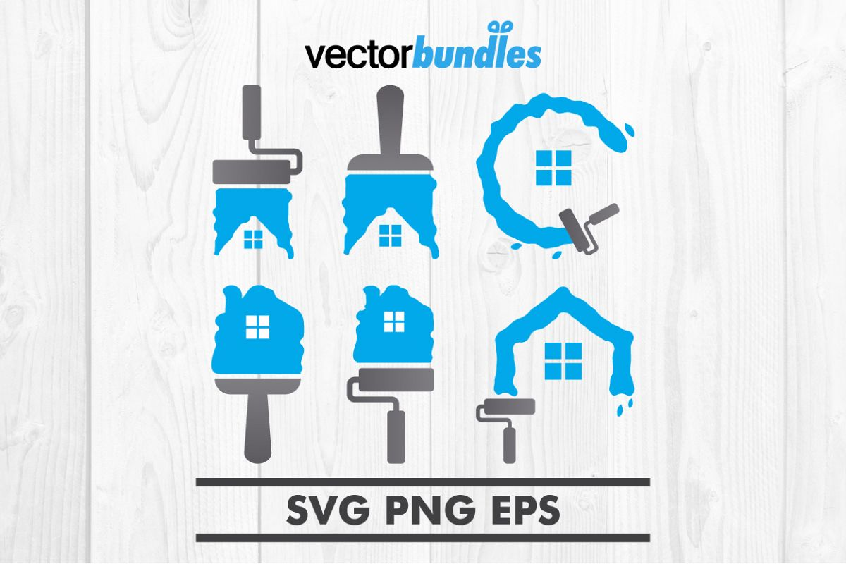 Home painting clip art svg example image 1