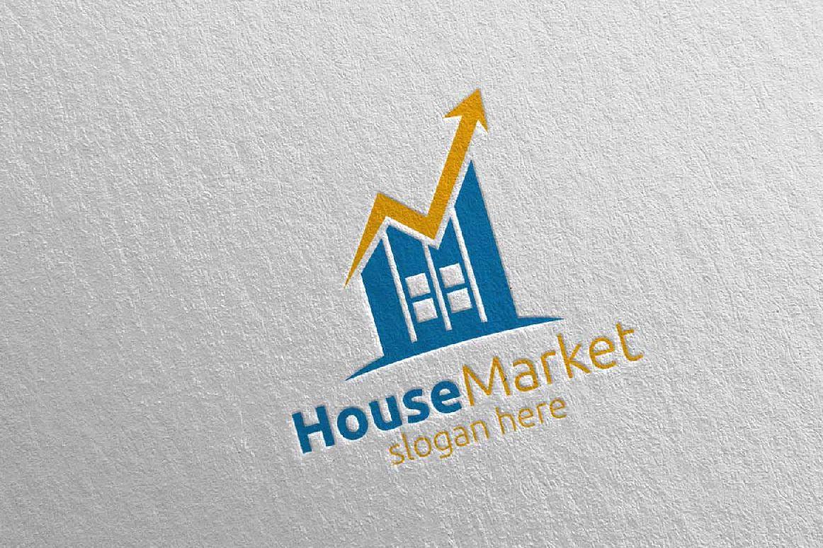 Real Estate Marketing Financial Advisor Logo Design 22 example image 1