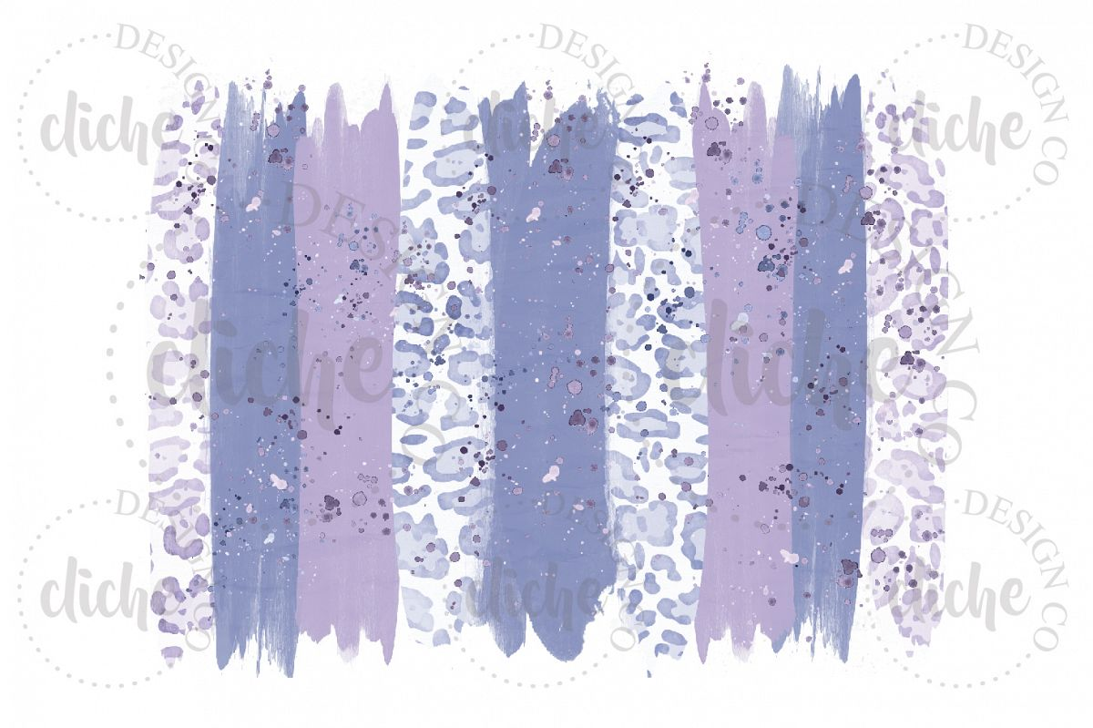 Lavender Paint Stroke Sublimation Design Background example image 1