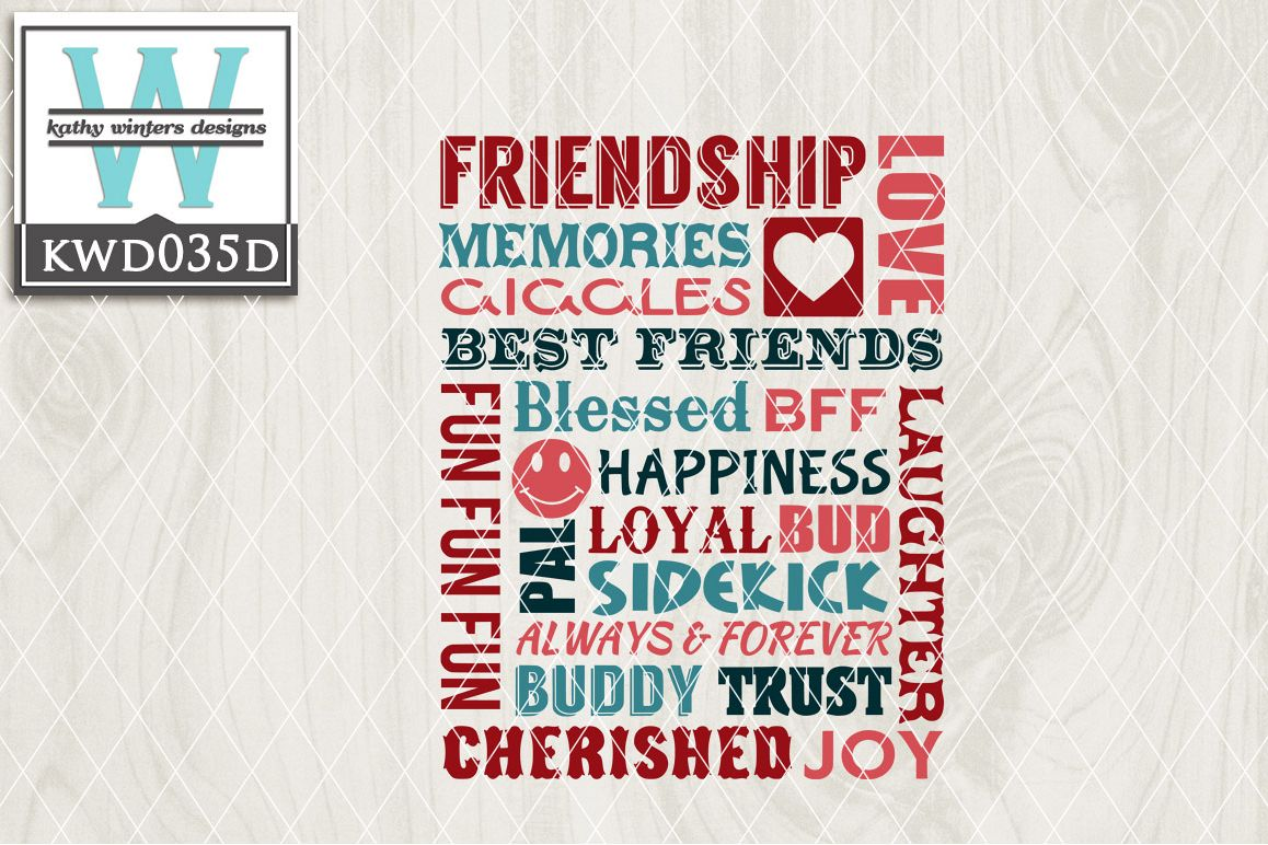 Friends Cutting File KWD035D example image 1