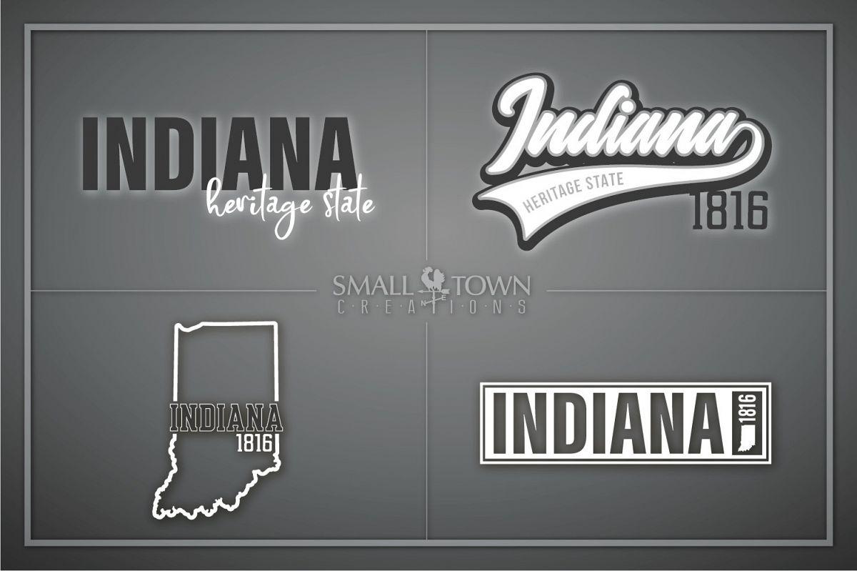 Indiana, Heritage state - slogan, Logo, PRINT, CUT & DESIGN example image 1